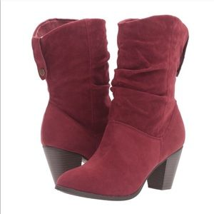 Shoes - Burgundy Heeled Boots
